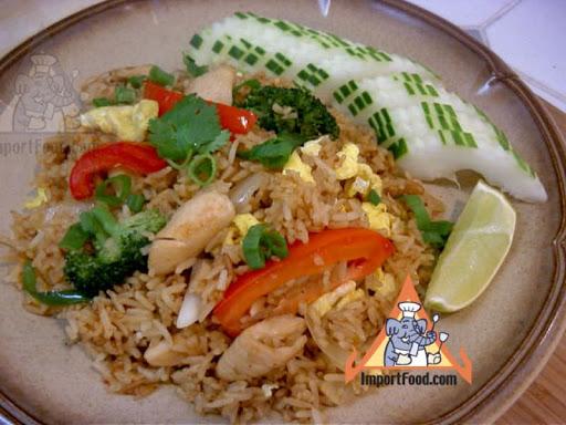 Thai Fried Rice with Chicken, 'Khao Pad Namprik Pao Sai Kai'