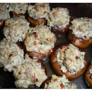 Sausage Stuffed Cremini Mushrooms