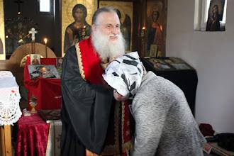 Photo: Бургас, благословение след молебена.