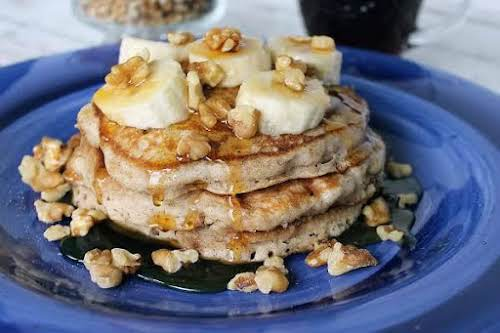 "Cinnamon Vanilla Pancakes W/ Banana & Walnuts""If you like more than just..."
