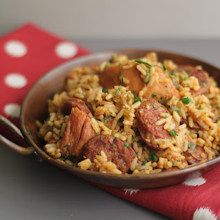Slow Cooker Chicken and Sausage Jambalaya.