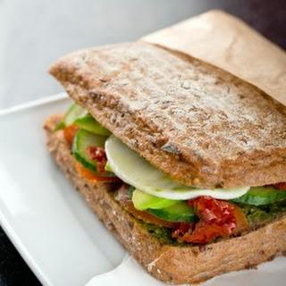 Mozzarella, Tomato, Pesto & Avocado Sandwich