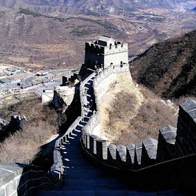 China Great Wall by Alvin Ngow - Buildings & Architecture Public & Historical ( mountain, attractions, travel, landscape, china scenery, photography, heritage, china attractions, landmark, chinese historical artifacts, background, outdoor, asia, buildings, tourist attractions, scenery, deck, activity, china heritage, china,  )