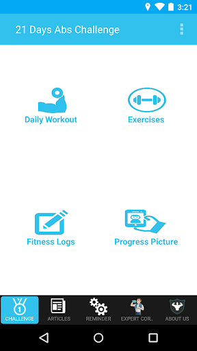 21日腹筋チャレンジアプリ。
