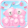 Cute Bear Love Tema Pink Teddy Bear