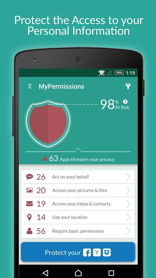 MyPermissions Privacy Cleaner- screenshot
