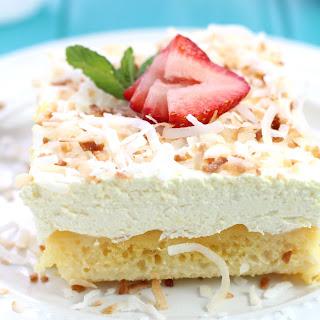 Pina Colada Poke Cake.