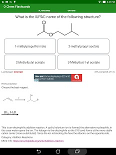 Organic Chemistry Flashcards- screenshot thumbnail