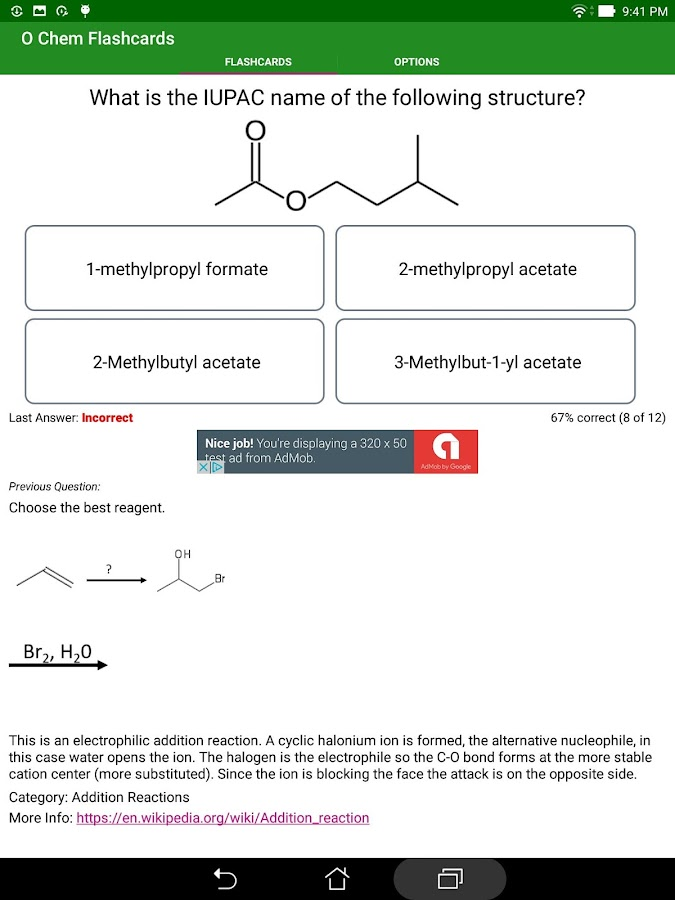 Organic Chemistry Flashcards- screenshot