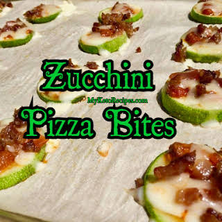 Keto Zucchini Mini Pizza Bites.