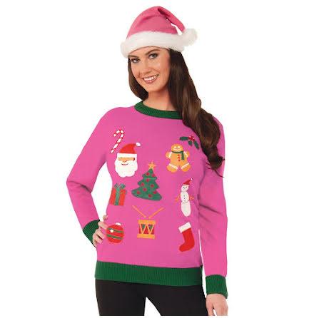 Jultröja, rosa XL