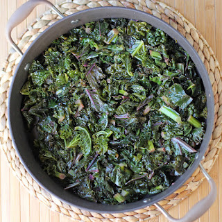 Spicy Lemony Sauteed Rainbow Kale
