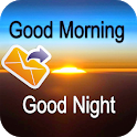 Good Morning and Good Night messages images Gif icon