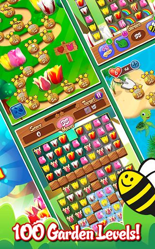 Tulip Crush 🌷 Match 3 Beautifully 🐝 Flower Game ss2