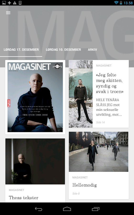 Dagbladet eAvis- screenshot