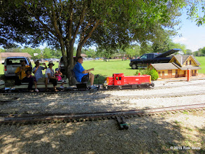 Photo: Bill Smith with his Katy locomotive at Sweetwater at 12:56 PM.      HALS Public Run Day 2015-0919 RPW