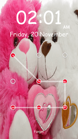 android Teddy Bear Pattern-Bildschirm Screenshot 3