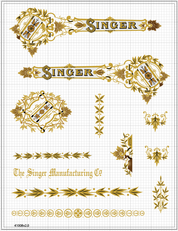 Singer 28 Victorian Restoration Decals