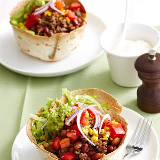 Mexican Beef Salad Bowls.