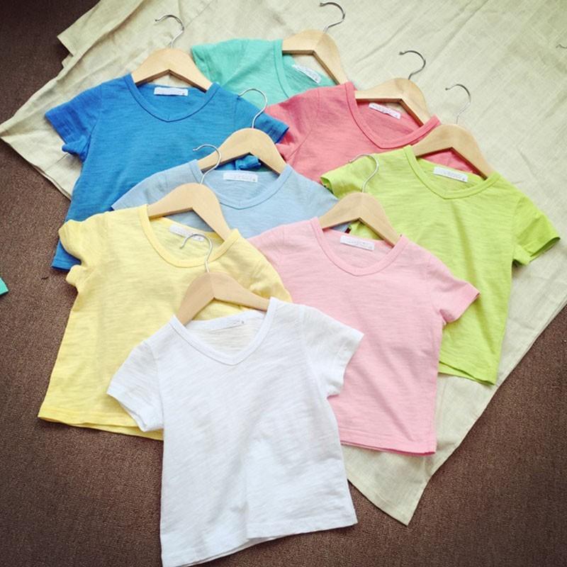 Gładkie koszulki t-shirt dla dzieci
