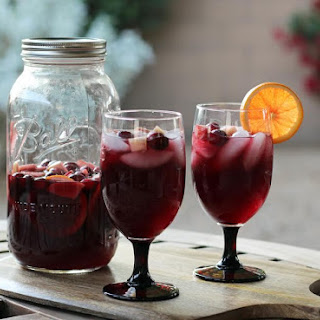 Festive Red Wine Sangria.
