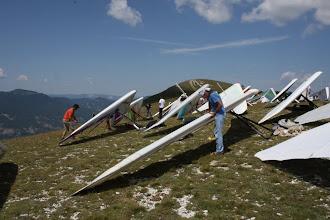 Photo: Гора Аспр, старт вроде под западный ветер.
