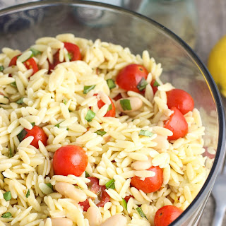 Lemon Orzo Pasta Salad.