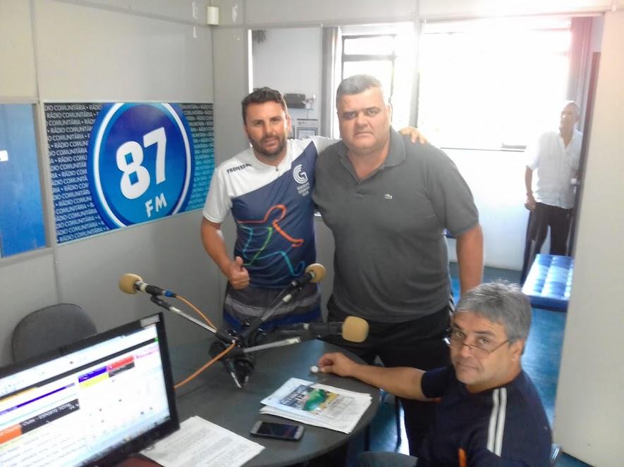 Rodrigo Stampone (Diguita), Anselmo Luiz, Donacio Silva e ao fundo Jota Araújo