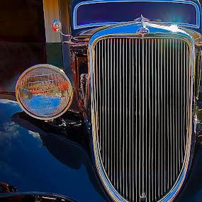 Blue coupe by Dan Larsen - Transportation Automobiles (  )