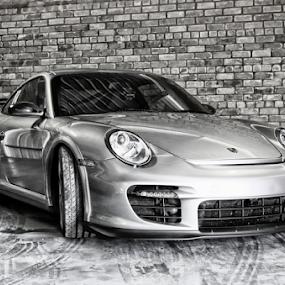 Porsche 911 by Gavin Plessis - Transportation Automobiles ( motor car, silver, porsche, beauty, racetrack,  )