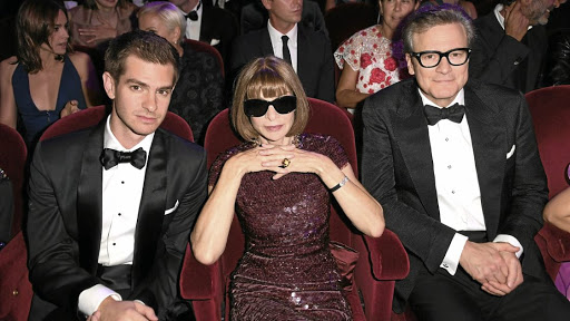 Fashion eco-warriors Andrew Garfield, Anna Wintour and Colin Firth.