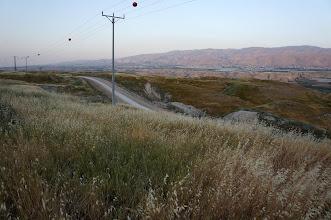 Photo: Jordan River  Valley border road