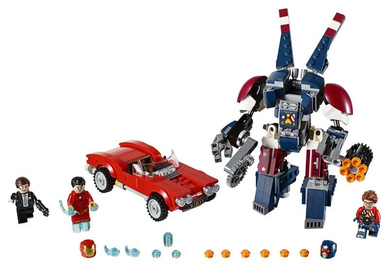 Contenido de Lego® 76077 Iron Man: el Ataque de Acero de Detroit