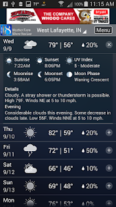 WLFI Weather screenshot 2