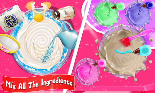Glittery & Sparkly Rainbow Unicorn Cake Maker! 1.6 screenshots 2