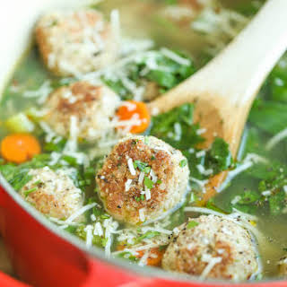 Turkey Meatball and Spinach Soup.
