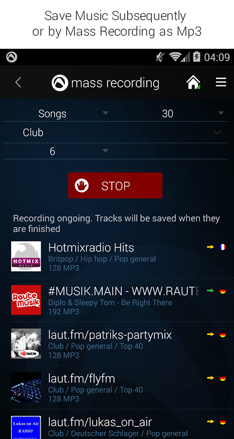 Radio Player from Audials- screenshot