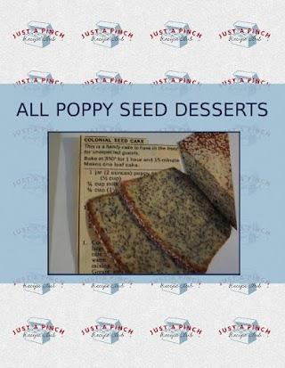 ALL  POPPY SEED DESSERTS