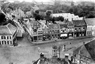 Photo: 1920 Haagsemarkt vanuit de kerktoren gezien