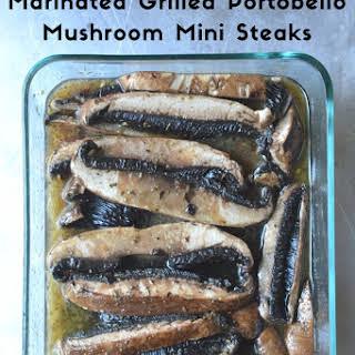 Grilled Portobello Mushroom Mini Steaks.