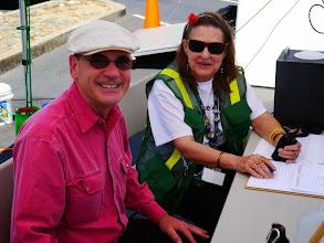 Photo: Doug (KI6BZT) and Rose (K6LEZ) at the VHF/UHF station.