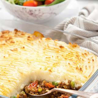 Spicy Lentil Vegetarian Shepherd's Pie.