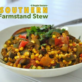 RECIPE for SOUTHERN FARM STAND STEW with OKRA, TOMATOES & SWEET CORN