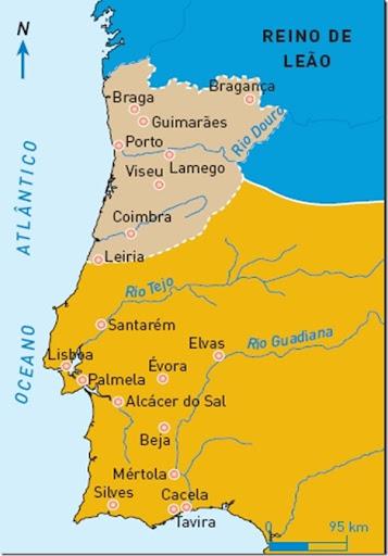 O território português em 1143