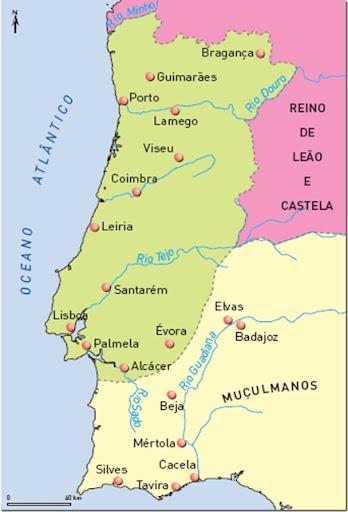 Fronteiras de Portugal em 1185