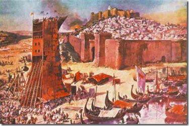 Conquista de Lisboa aos Mouros (pintura do século XX)