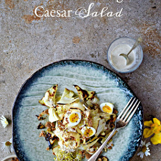 Charred Cabbage Caesar Salad with (Nearly) Drinkable Low-Fat Dressing Recipe