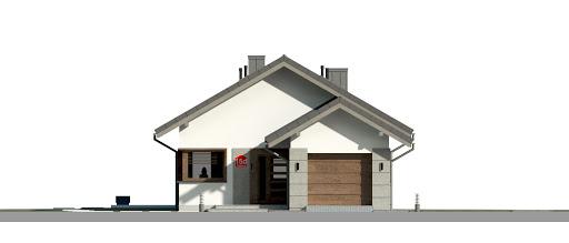 Dom przy Pastelowej 15 D bis - Elewacja przednia
