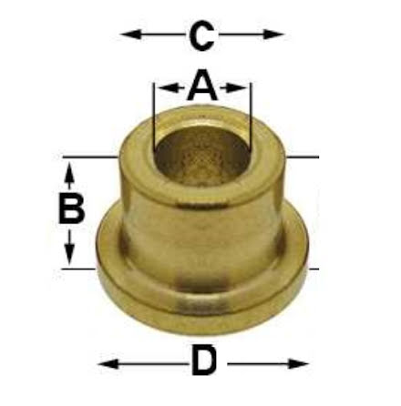 FODRING hål 8,9 mm 5/st 8,9 x 5,75 x 11,0 x 12,7 mm
