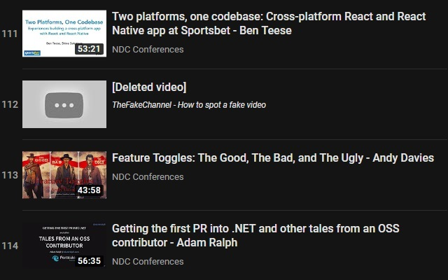 YouTube Playlist Deleted Tracker